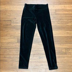 aerie Velvet Ribbed Black Leggings - Size L